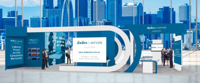 Dades i Serveis estand Fira Ocupació maig 2021