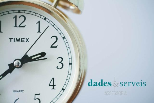DS horari estiu 2021